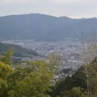 まち歩き東0447  将軍塚から山科を望む