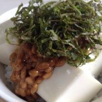 納豆豆腐ごはん