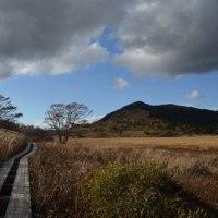 アンバーに包まれ、草紅葉そよぐ霧ヶ峰を歩く。