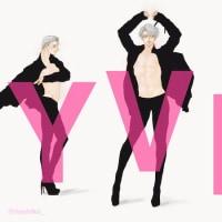 【ユーリ!!!】ピンヒール男子な3人【Y/V/P】 #yurionice