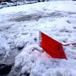 教習所コースの雪かき