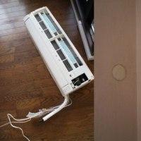 DIYでエアコン取り外し