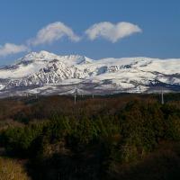 鳥海山のある風景(象潟町西中野沢付近)