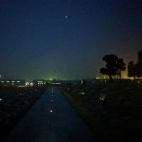 夜散歩、ラジオ体操とともに