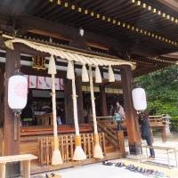 弓弦羽神社を通りかかると神前結婚式が行われていた。