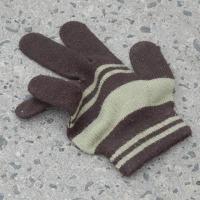 横縞の手袋