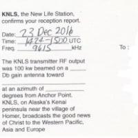 KNLS Alaska QSL