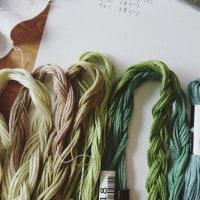 緑な刺繍糸