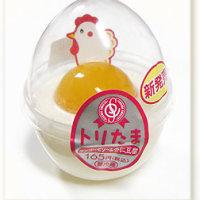 トリたま¥165/タマゴそっくりな杏仁豆腐&マンゴーゼリー(正月限定)