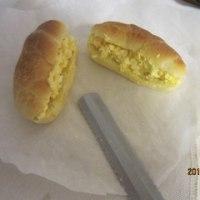 バターロールに挑戦 3;冷凍パン種を食べたい時にとりだして、解凍し二次発酵をし焼きたてを食べる