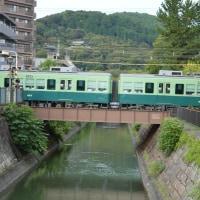 まち歩き滋賀0211  琵琶湖疏水を渡る京阪電車 石山坂本線