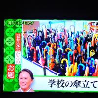 6/23 夏井先生 学校の傘立て