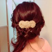 編み込みヘアアレンジ!
