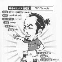 田中マルクス闘莉王選手の書籍の似顔絵(挿絵イラスト)
