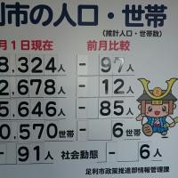 足利市の人口1月
