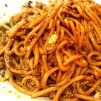 痺れる辛さの汁なし坦々麺&麻婆豆腐
