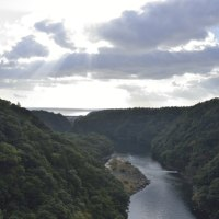 大川の滝で虹が見えたよ 【屋久島里地観光ガイドツアー】