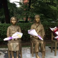 上海の上海師範大学に慰安婦像。