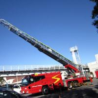 はしご消防車を見た