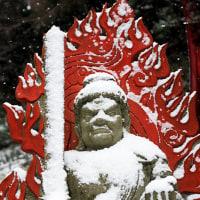 2017 降りしきる雪に立つ不動明王  《糟屋郡篠栗町》