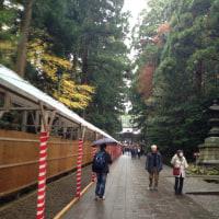 弥彦神社へ