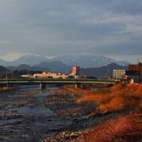 鹿沼市 夕方 新鹿沼橋からの風景 29.1.19