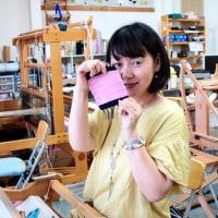 熊本県の女性が一人 三河木綿の手織り体験