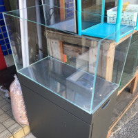 中古 ADA 600×300×360オールガラス水槽とキャビネット