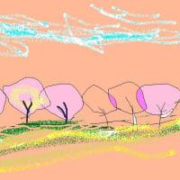山の会の総会は桜、桜の中でした♪