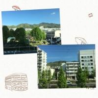 間も無く神戸三宮。山が見えます。