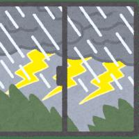 天気予報通りの雷雨でした(-_-;)