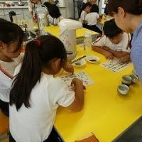 6月20日 原里小学校で、日本茶教室