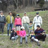 福寿草まつり 片付け作業