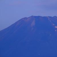 夜霧に霞む山中湖 鉄砲木の頭  平成28年8月27日