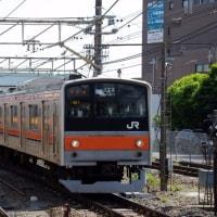 205系M51編成むさしの号八王子行@豊田駅