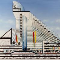 JR某駅ビル計画の建築イラスト
