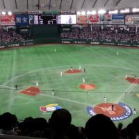 WBCの野球観戦(日本VSオーストラリア)で東京ドームへ行きました。