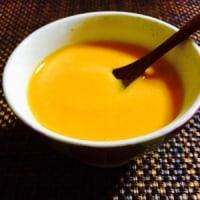 やっと今季初のカボチャのポタージュ & 茄子餃子なんていかが? & 未熟ないちぢくを使って