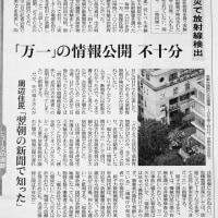 【放射能リスク対応の基本】について貴女が参考になる東京新聞の特報記事。住民連絡会ホームページ開始。