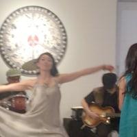 あすわの展示会で生演奏で踊りました。