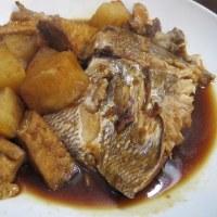鯛を煮て木曜の晩ごはん