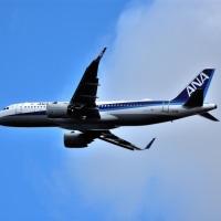 日本初  ANA   エアバス A320neo  の飛来シーン。従来機A320neo-200と何処が違うかなあ⁉️