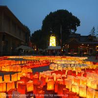 博多灯明ウォッチング2016・櫛田神社(冷泉)の地上絵点灯!