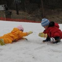 雪遊びとケーキバイキング