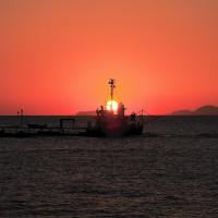 太陽と船のコラボ