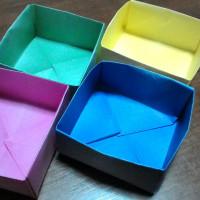 日曜日 折り紙で箱