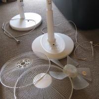 扇風機を片付ける