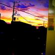 教室から綺麗な夕焼けが見えました。