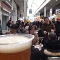 きのうよりは少し暖かいからビールも飲める