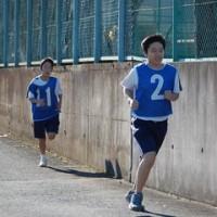 中学部 マラソン大会の様子